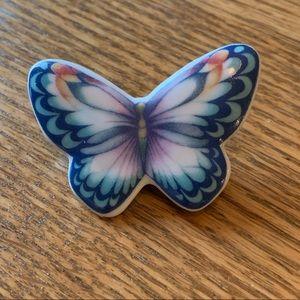 "💥4/$10💥 Butterly Glass Enamel Painted Brooch 2"""